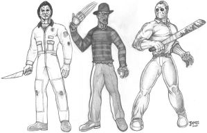 Michael, Freddy, Jason - 2008 by Killerbee-Kreations