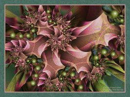 Poinsettia With Berries by afugatt