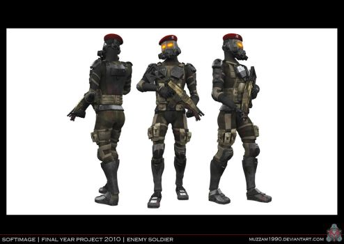 FYP - Enemy Soldier 01 by muzzam1990
