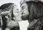 Lord of the Rings Pencil Art by Kentcharm