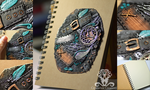 Polymer clay Steampunk journal cover by Crystarbor