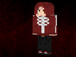 Red Skele Man Minecraft Skin by Kon13