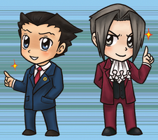 Ace Attorney Charms by yuliya