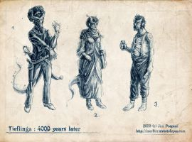 Concept Tuesday - Tieflings by Merlkir