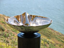 Crenelated Bronze Vessel Sink by ou8nrtist2
