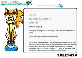 Flair the Hedgehog info by Tales499