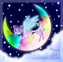 Painting the Moon by GaudiFanYAY