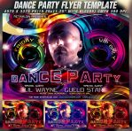 PSD Dance Party Flyer Template by retinathemes