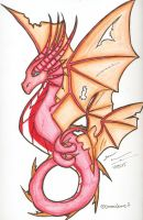 Red Serpent Dragon by DracoJane7