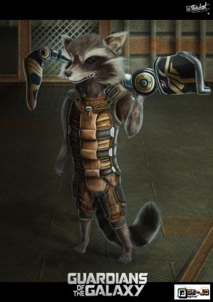 Rocket Raccoon by Doe-jo
