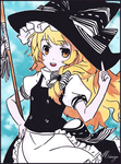 Marisa Kirisame - Sweet Witch ! by CaptainMisuzu
