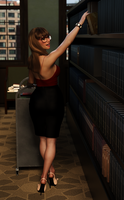 Dina - The Librarian - 3 by SlimMckenzie