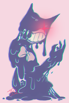 Ink blob Bendy by fIOMERA