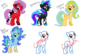 PONY ADOPTABLES by Artificially-Zee