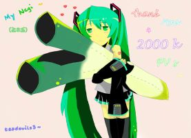 My Negi - Thank You For 2k PVs by tazdevilz3
