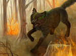 Forest Fire + SPEEDPAINT by Sally-Ce
