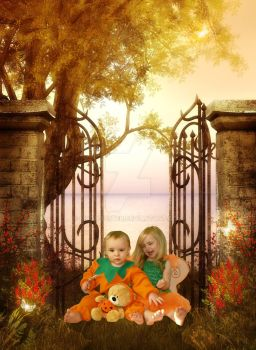 Pumpkin Children of the Fae by moonduster