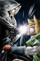 Link Vs. Sephiroth by Archaois