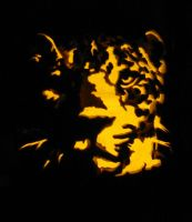 Leopard Pumpkin Carving by Armuri