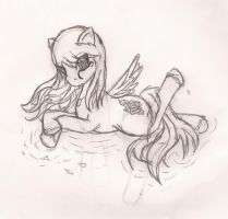 My VERY FIRST pony drawing EVER uncolored by sailor-mini-mars