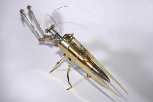 Steampunk praying mantis by hardwidge
