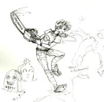 Teague vs the Zombies sketch by Doc-Spicolli