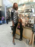 super tall woman at the mall by lowerrider