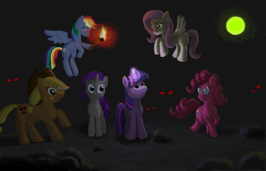 Ponies in the Dark by Drawoff-Freeride