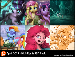 April Patron Packs - HighRes and PSD by AssasinMonkey