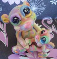 polymer clay bears hope faith by crazylittlecritters