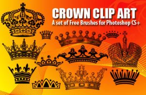 Crown Clip Art Brushes by fiftyfivepixels