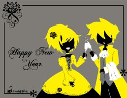Happy New Year 2014 by Hoshi-Wolfgang-Hime