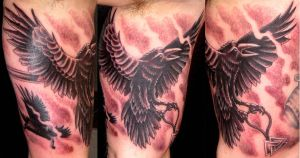 Hugin and Munin by DarkSunTattoo