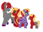 Different worlds, one family by CrimsonGlow