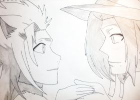 toshiro and rangiku by anime-lover64