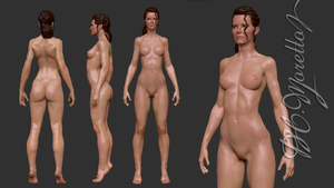 Evangeline Lilly Study  zBrush by Pedro-Moretto