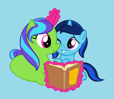 'Just One More Story, Sis? Pleeeassee?' by Rain-Approves