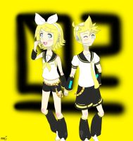 Rin and Len Kagamine by lilykitten1998