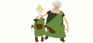 Brave Lord and Wee Dingwall WIP by Heatherannpt