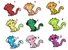 Cheap Cat Adoptables (Closed) by LittleOrca20