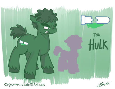 Avengers/MLP Crossover - Hulk by caycowa
