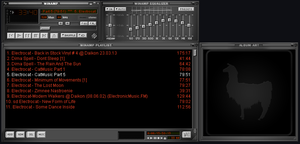DEFAult winamp Skin Grey orange By EmiLEDESMArg  by EmiLEDESMArg