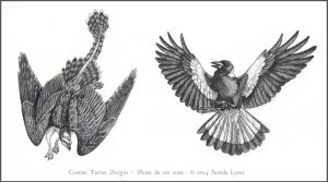 Tattoo Designs - Gryphon and Magpie by windfalcon