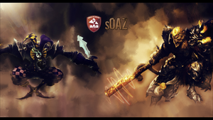 Shaco and Wukong wallpaper by Socrqte
