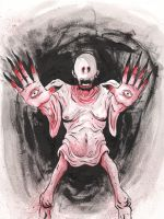 Pale man from Pans Labyrinth by TreeBeerdy