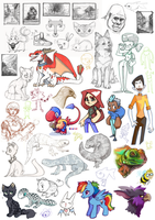 Sketchdump 2013 by Rhinne