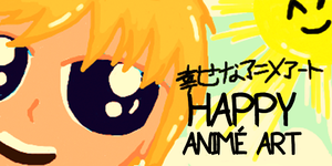 Happy Anime Art Icon Size L by troisnyxetienne