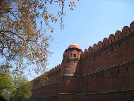Red Fort Wall by ehrehrere
