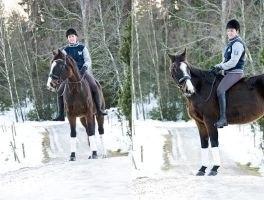 horse and owner in januari 2013 by TinyCricket
