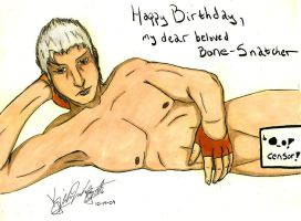 Vergil B-Day Present -colored- by KibaDVahnGoth